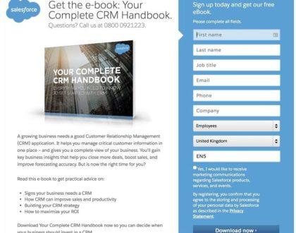 lead capture form Salesforce example