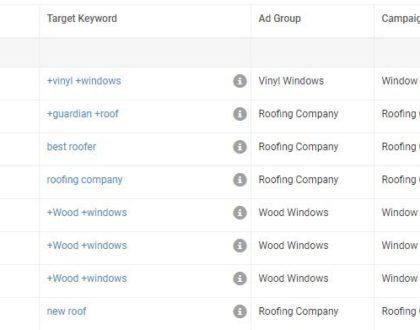 Google Ads issues keywords