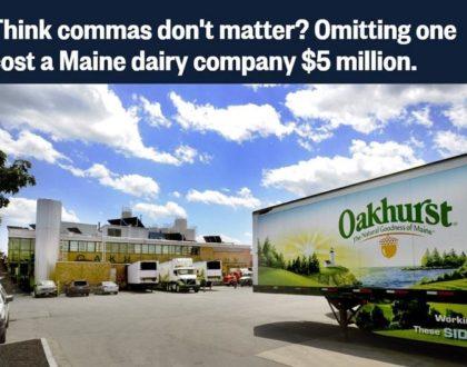 Oakhurst Dairy comma lawsuit