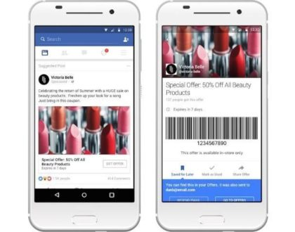 Facebook offer ads examples